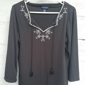 Embroidered Ann Taylor Blouse